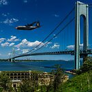 Fat Albert Over The Verrazano Bridge by Chris Lord
