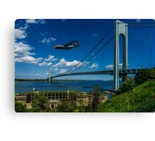 Fat Albert Over The Verrazano Bridge Canvas Print