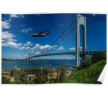 Fat Albert Over The Verrazano Bridge Poster