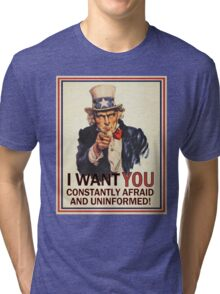Afraid & Uniformed Tri-blend T-Shirt
