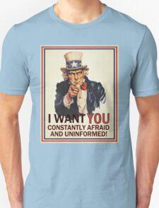Afraid & Uniformed Unisex T-Shirt