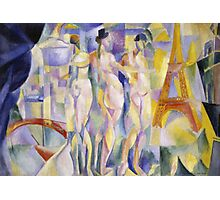 Robert Delaunay - La Ville De Paris. Abstract painting: abstraction, geometric, Nude Woman, composition, lines, forms, creative fusion, music, kaleidoscope, illusion, fantasy future Photographic Print