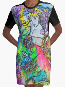 Touched Graphic T-Shirt Dress