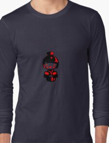 Modern Kokeshi Doll - Black and red Long Sleeve T-Shirt