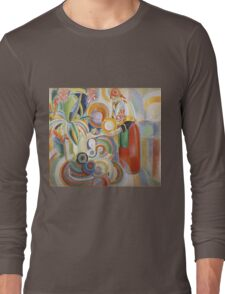 Robert Delaunay - Portuguese Woman. Abstract painting: abstraction, geometric,  Woman, composition, lines, forms, Portuguese , music, kaleidoscope, illusion, fantasy future Long Sleeve T-Shirt