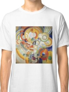 Robert Delaunay - Carousel With Pigs . Abstract painting: abstraction, geometric, expressionism, composition, lines, forms,  Pig , Carousel , music, kaleidoscope, fantasy future Classic T-Shirt