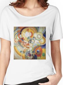Robert Delaunay - Carousel With Pigs . Abstract painting: abstraction, geometric, expressionism, composition, lines, forms,  Pig , Carousel , music, kaleidoscope, fantasy future Women's Relaxed Fit T-Shirt