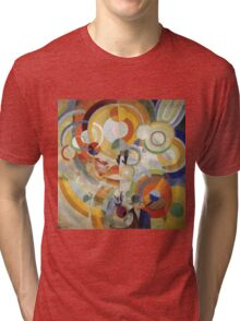 Robert Delaunay - Carousel With Pigs . Abstract painting: abstraction, geometric, expressionism, composition, lines, forms,  Pig , Carousel , music, kaleidoscope, fantasy future Tri-blend T-Shirt