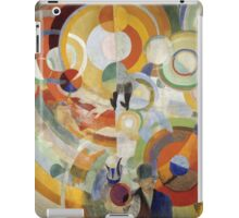 Robert Delaunay - Carousel With Pigs . Abstract painting: abstraction, geometric, expressionism, composition, lines, forms,  Pig , Carousel , music, kaleidoscope, fantasy future iPad Case/Skin
