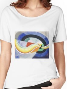 Robert Delaunay - Propeller. Abstract painting: abstraction, geometric, expressionism, composition, lines, forms, creative fusion, music, kaleidoscope, illusion, fantasy future Women's Relaxed Fit T-Shirt