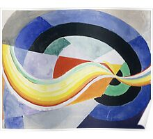 Robert Delaunay - Propeller. Abstract painting: abstraction, geometric, expressionism, composition, lines, forms, creative fusion, music, kaleidoscope, illusion, fantasy future Poster