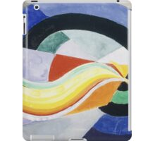 Robert Delaunay - Propeller. Abstract painting: abstraction, geometric, expressionism, composition, lines, forms, creative fusion, music, kaleidoscope, illusion, fantasy future iPad Case/Skin
