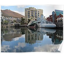 Old whaler in Table Bay Poster