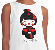 Modern Kokeshi Doll - Black and red Contrast Tank