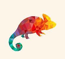 happy chameleon by axako