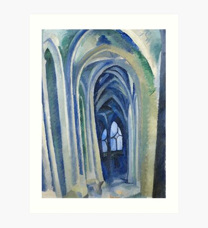 Robert Delaunay - Saint-Severin. Abstract painting: abstraction, geometric, expressionism, composition, lines, forms, creative fusion, music, kaleidoscope, illusion, fantasy future Art Print