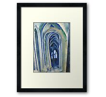 Robert Delaunay - Saint-Severin. Abstract painting: abstraction, geometric, expressionism, composition, lines, forms, creative fusion, music, kaleidoscope, illusion, fantasy future Framed Print