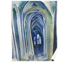 Robert Delaunay - Saint-Severin. Abstract painting: abstraction, geometric, expressionism, composition, lines, forms, creative fusion, music, kaleidoscope, illusion, fantasy future Poster