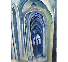 Robert Delaunay - Saint-Severin. Abstract painting: abstraction, geometric, expressionism, composition, lines, forms, creative fusion, music, kaleidoscope, illusion, fantasy future Photographic Print