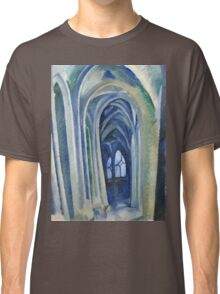 Robert Delaunay - Saint-Severin. Abstract painting: abstraction, geometric, expressionism, composition, lines, forms, creative fusion, music, kaleidoscope, illusion, fantasy future Classic T-Shirt