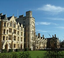 Oxford New College in Spring by LPinchh