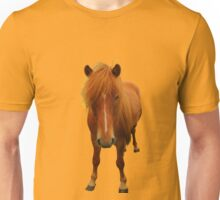 Icelandic horse on buttercup background Unisex T-Shirt