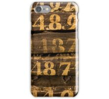 Vintage letters background iPhone Case/Skin