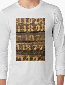 Vintage letters background Long Sleeve T-Shirt
