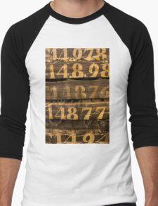 Vintage letters background Men's Baseball ¾ T-Shirt