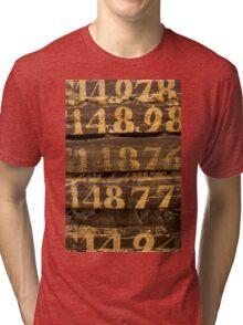 Vintage letters background Tri-blend T-Shirt