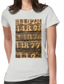 Vintage letters background Womens Fitted T-Shirt