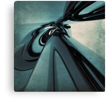 Abstract Blue And Green Form Canvas Print