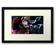 Playing With The Clowns Framed Print