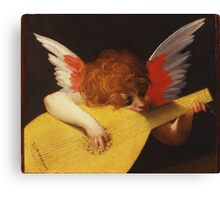Rosso Fiorentino - Musical Angel 1522. Child portrait: cute baby, kid, children, angel, child, kids, lovely family, boys and girls, boy and girl, mom mum mammy mam, childhood Canvas Print