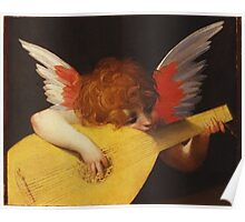 Rosso Fiorentino - Musical Angel 1522. Child portrait: cute baby, kid, children, angel, child, kids, lovely family, boys and girls, boy and girl, mom mum mammy mam, childhood Poster