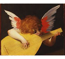 Rosso Fiorentino - Musical Angel 1522. Child portrait: cute baby, kid, children, angel, child, kids, lovely family, boys and girls, boy and girl, mom mum mammy mam, childhood Photographic Print