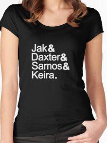 Jak & Daxter & Samos & Keira.  Women's Fitted Scoop T-Shirt