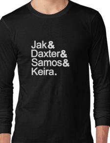 Jak & Daxter & Samos & Keira.  Long Sleeve T-Shirt