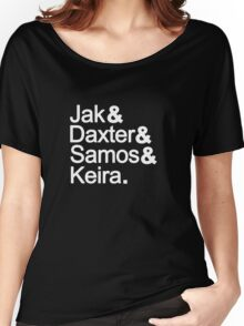 Jak & Daxter & Samos & Keira.  Women's Relaxed Fit T-Shirt
