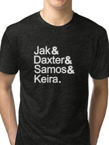 Jak & Daxter & Samos & Keira.  Tri-blend T-Shirt