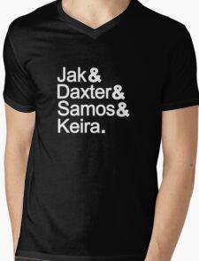 Jak & Daxter & Samos & Keira.  Mens V-Neck T-Shirt