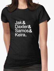 Jak & Daxter & Samos & Keira.  Womens Fitted T-Shirt