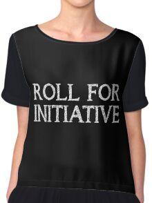 Roll for Initiative (Black) Chiffon Top