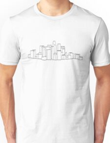 An Outline of Los Angeles Buildings Unisex T-Shirt