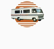 Vintage RV Travel Retro Orange Motorhome Travelling Womens Fitted T-Shirt