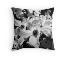 Black & White Dogwood Throw Pillow