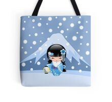 Winter Kokeshi Doll V2 Tote Bag