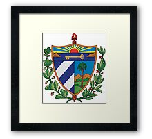 Cuban Coat of Arms If you like, please purchase, try a cell phone cover thanks Framed Print