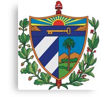 Cuban Coat of Arms Canvas Print