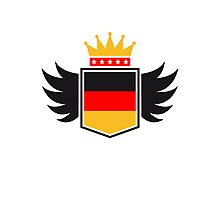 Germany coat of arms banner King Photographic Print